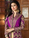 photo of Mouni Roy Taffeta Silk Magenta Embellished Long Anarkali