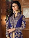 photo of Mouni Roy Floor Length Taffeta Silk Anarkali Dress In Navy Blue