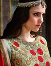 photo of Designer Sea Green Color Embroidered Long Anarkali Salwar Kameez In Georgette Fabric