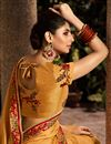photo of Function Wear Designer Fancy Fabric Mustard Saree With Embroidered Blouse