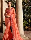 image of Fancy Party Wear Designer Saree In Fancy Fabric With Heavy Blouse