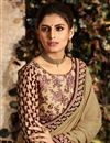 photo of Function Wear Fancy Fabric Beige Embroidered Saree With Designer Blouse