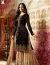 image of Party Style Embroidered Black Georgette Fabric Fancy Sharara Suit