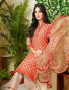 photo of Beige Color Daily Wear Cotton Fabric Printed Salwar Kameez