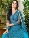 photo of Punjabi Cotton Fabric Sky Blue Color Daily Wear Salwar Suit With Charming Print Designs