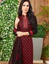 photo of Regular Wear Cotton Fabric Printed Salwar Kameez In Black Color