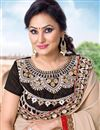 photo of Festive Wear Designer Georgette Saree In Cream Color