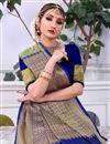 photo of Wedding Wear Weaving Work Banarasi Silk Green Saree