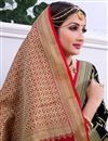 photo of Traditional Black Festive Wear Weaving Work Saree In Banarasi Silk
