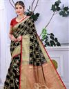 image of Traditional Black Festive Wear Weaving Work Saree In Banarasi Silk