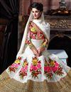 photo of Off White Color Floor Length Georgette Fabric Anarkali Salwar Kameez