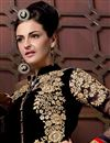 picture of Floor Length Georgette Fabric Anarkali Salwar Suit in Black Color