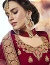 photo of Eid Special Maroon Wedding Wear Embroidered Lehenga In Velvet Fabric With Designer Blouse