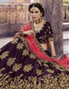 photo of Sangeet Functtion Wear Art Silk Designer Lehenga Choli In Wine Color With Attractive Blouse