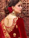 photo of Ready To Ship Zari Work On Beige Designer Bridal Lehenga Choli In Art Silk Fabric