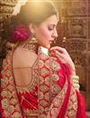 picture of Red Satin Fabric Wedding Wear Bridal Chaniya Choli With Zari Work