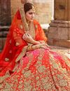 photo of Zari Designs On Art Silk Pink Occasion Wear 3 Piece Lehenga Choli