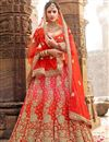image of Zari Designs On Art Silk Pink Occasion Wear 3 Piece Lehenga Choli