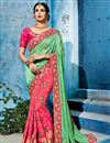 image of Fancy Fabric Pink Occasion Wear Saree With Embroidery Work