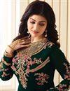 photo of Eid Special Ayesha Takia Georgette Embellished Straight Churidar Salwar Suit In Dark Green