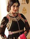 picture of Eid Special Ayesha Takia Wedding Function Wear Black Georgette Anarkali Suit