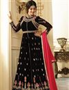 image of Eid Special Ayesha Takia Wedding Function Wear Black Georgette Anarkali Suit