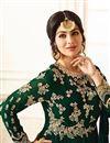 photo of Eid Special Ayesha Takia Dark Green Georgette Embellished Floor Length Anarkali Dress
