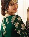 picture of Eid Special Ayesha Takia Dark Green Georgette Embellished Floor Length Anarkali Dress