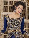 photo of Ready To Ship Art Silk Designer Embroidered Floor Length Anarkali Dress