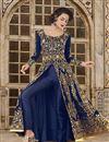 image of Ready To Ship Art Silk Designer Embroidered Floor Length Anarkali Dress