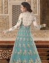 photo of Ready To Ship Net Wedding Wear Light Cyan Embellished Lehenga Choli