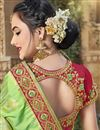photo of Trendy Function Wear Sea Green Art Silk Embroidered Saree