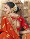 photo of Orange Trendy Function Wear Art Silk Embroidered Saree