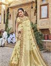 image of Trendy Art Silk Beige Function Wear Embroidered Saree