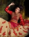 photo of Wedding Wear Designer Cream Color Net Fabric Embroidered Lehenga Choli