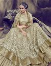 photo of Art Silk Fabric Dark Beige Color Festive Wear Embroidered Chaniya Choli With Beautiful Blouse