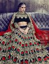 photo of Green Color Party Wear Lehenga Choli In Velvet Fabric With Embroidery Work
