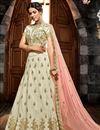 image of Art Silk Embellished Designer Lehenga With Embroidery