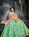 photo of Sangeet Wear Art Silk Lehenga Choli With Embroidery