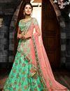 image of Sangeet Wear Art Silk Lehenga Choli With Embroidery