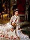 picture of Off White Color Sangeet Function Wear Georgette Fabric Designer Embroidered Lehenga Choli