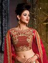 photo of Function Wear Designer Beige Georgette Fabric 3 Piece Lehenga With Embroidery Work