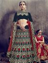 image of Black Color Designer Velvet Fabric Function Wear Lehenga With Embroidery Work