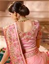 photo of Satin Silk Fabric Function Wear Designer Saree With Embellished Blouse