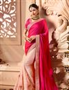 image of Function Wear Art Silk Fabric Designer Rani Color Saree With Embroidered Blouse