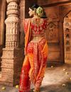 photo of Orange Color Party Wear Saree In Art Silk Fabric With Weaving Work And Beautiful Blouse