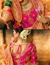 photo of Art Silk Fabric Salmon Color Weaving Work Designer Saree With Designer Blouse
