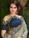 photo of Art Silk Party Style Fancy Saree With Embroidered Blouse In Grey