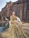 photo of Designer Beige Wedding Function Wear Embroidered Fancy Fabric Saree