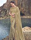 image of Fancy Fabric Beige Designer Wedding Function Wear Embroidered Saree